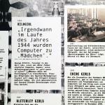 """Timeline in der Ausstellung """"Computer Grrrls"""", HMKV, 2019"""