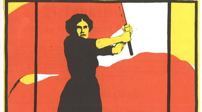 Ausschnitt eines Plakats zum Internationalen Frauentag aus dem Jahr 1914
